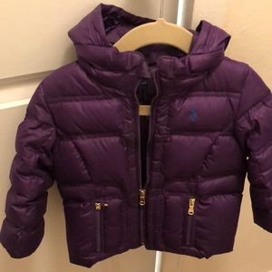 Gently used Ralph Lauren purple baby winter jacket